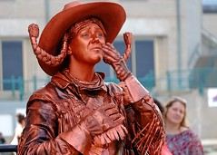 Rusty cowgirl (halifaxlight) Tags: portrait canada downtown novascotia waterfront rusty cowgirl halifax mime livingstatue buskersfestival