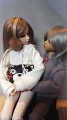 Amy [minifee celine] et Raven [ kid DELF yuz] (maranwe84) Tags: minifee minifeeceline minifeecelinebjdmsdfairyland yuz kiddelf kiddelfyuz