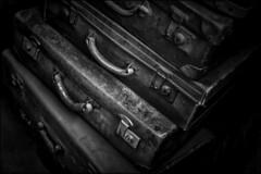 Suitcases (ducatidave60) Tags: fuji fujifilm fujixt1 fujinonxf35mmf14 bw blackandwhite monochrome