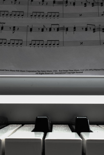 Piano keys & Music