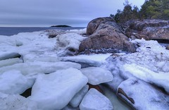 Pörkenäs. It was not too cold outside today but in the wind it felt like one of the coldest days by the sea. Right before sun set just before my fingers froze.. (Mika Lehtinen) Tags: cold ice pörkenäs fäboda finland sea beach winter nikon d 600 sigma 20mm d600 water rocks sky