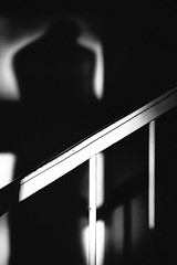 Love & Stripes (1/3) (Thomas Listl) Tags: thomaslistl blackandwhite noiretblanc biancoetnegro lightandshadow stripes lovestripes silhouette diagonal handrail