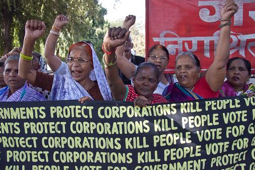 32nd Anniversary, Bhopal Disaster. Main Parade and. Photos: Colin Toogood