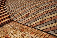 DSC_6897 [ps] - Swale & Swole (Anyhoo) Tags: anyhoo photobyanyhoo wellington newzealand nz northisland brick steps stairs ramp slope sweep curve strata layer stripe strip band repetition pattern masonry paving urban