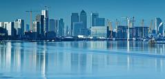 Blue money (JonoHub) Tags: london cityscape thames river blue canarywharf eastlondon