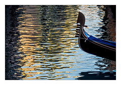 Gondola (Peter & Olga) Tags: 2016 christmasday olgabaldock venice abstracts canals church reflections gondola light colour winter