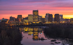 Skyline Sunrise (Michael Chronister) Tags: rva richmond virginia explore exploration sunrise reflection