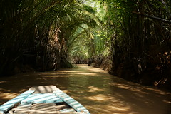Watery Tunnel (steve_whitmarsh) Tags: vietnam asia orient mekong water river boat trees nature travel