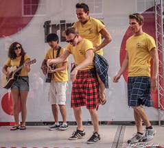 KIlted Performers on Edinburgh's Royal Mile (FotoFling Scotland) Tags: actor edinburgh fringe royalmile kilt meninkilts performer street streetperformer streettheatre fotoflingscotland