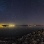 Nighttime Panorama at the South Shore of the Salton Sea thumbnail