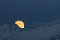 Lever de pleine Lune au dessus de Belledonne (Olivier 38) Tags: lune moon leverdelune moonrise astronomie astronomy sky ciel nuit night paysagedenuit nightscape montagne mount