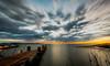 Sunset without sun (trai_thang1211) Tags: sunset sun pier sky clouds longexposure outdoor river lake vietnam ben nom bennom