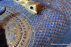 Decorated Coffin lid (konde) Tags: kv55 valleyofthekings 18thdynasty newkingdom coffin mummycoffin gilded treasure art uraei cartouche hieroglyphs ancient collar