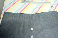Jeans_front_pieces (Two_tango) Tags: jeans denim pants trousers hose nähen sewing garments diy crafting