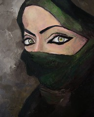 Woman of the Gulf (Mark Alexander PhotoG) Tags: persian gulf uae saudi arabia arab arabian arabs female women arabwoman eyes niqab hijab veil islam islamic oilpainting oil painting impressionsm beauty beautiful dubai kuwaiti qatar bahrain
