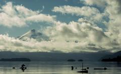 Villarrica (BluRam3) Tags: chile sky naturaleza lake bird nature water clouds lago nikon paisaje apo nubes sima villarrica volcan 70300 calafquen d3000