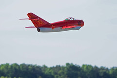 First in Flight RC Jet Rally 2015 - MIG-15 pass (John. Romero) Tags: radio plane canon airplane photography fly flying photo nc airport control aircraft aviation air rally flight jet first hobby airshow planes carolina wilson remote tamron rc flyin