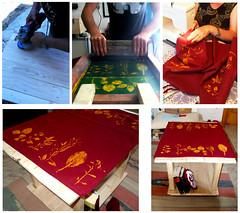 solide realt (serigrafia.zenor) Tags: foglie screenprint handmade tavolino tovaglia artigiano serigrafia zenor