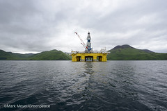 Polar Pioneer in Dutch Harbor (Greenpeace USA 2015) Tags: usa alaska protest shell gas arctic rig oil climatechange climate activist drilling unalaska dutchharbor fossilfuel