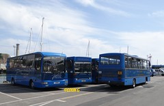 Fleet meeting (Coco the Jerzee Busman) Tags: uk blue bus islands coach camo renault cannon jersey swift dennis tours dart channel leyland lcb plaxton tantivy