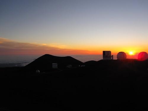Mauna Kea Keck Sunset