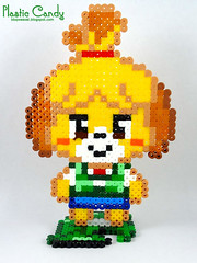 Isabelle (bbqweasel) Tags: isabelle animalcrossing bead hama perler beadsprite