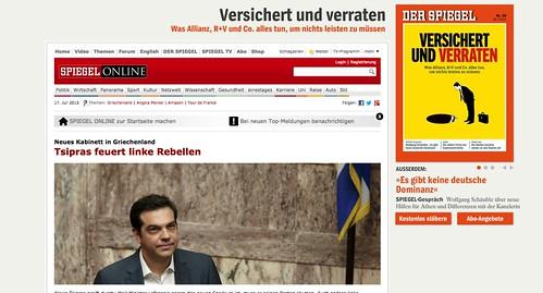 """""""Spiegel"""" mit Werbung"""