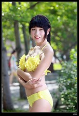 nEO_IMG_DP1U3199 (c0466art) Tags: school light portrait cute water girl yellow female canon high energy asia play outdoor good gorgeous young taiwan bikini figure lovely charming activity nima 1dx c0466art
