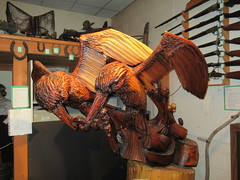 Carving (jamica1) Tags: sculpture canada museum hope bc display columbia carving british artifact