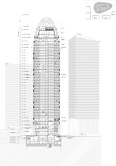 Башня Tower D2 от Anthony Bechu Tom Sheehan Architects в Париже
