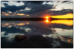 Lakeside Sunset #2 (Krogen) Tags: summer nature norway landscape norge sommer natur july norwegen noruega juli scandinavia krogen waterscape landskap noorwegen noreg hedmark skandinavia femunden engerdal olympuse3