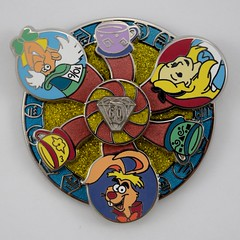 Disneyland Purchases - 2015-07-26 - Diamond Decades Collection Mad Tea Party Limited Edition Pin - Closeup Front View - March Hare (drj1828) Tags: us pin disneyland visit diamond limitededition dlr aliceinwonderland madteaparty 2015 decades disneypintrading le5000