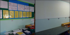 before and after (Philip Watson) Tags: school teaching teachers tidying classroomdisplays