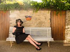 Holiday in France. (sabine57) Tags: stockings hat drag tv pumps highheels dress cd crossdressing tgirl transgender tranny transvestite crossdresser crossdress lbd nylons blackdress travestie transvestism blackpumps