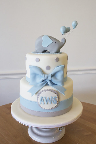 Cute Elephant Custom Cake