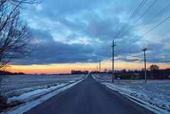 Blue Hour (Matt Champlin) Tags: winter life nature cold blue bluehour canon 2016 road home bare blustery chilly landscape peace peaceful idyllic change sunset colorful
