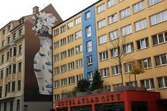 escif (Luna Park) Tags: munich germany streetart graffiti mural production lunapark positivepropaganda escif flower vase bomb