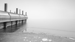 Smooth (Sebo23) Tags: longtimeexposure langzeitbelichtung bodensee kalt cold ice eis schwarzweis blackwhite bulb radolfzell nebel fog calm ruhig canon6d canon24704l