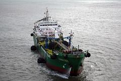 Bahia Tres 3 (PhillMono) Tags: nikon dslr d7100 ship boat vessel bahia tres tanker bow oiler lisbon portugal