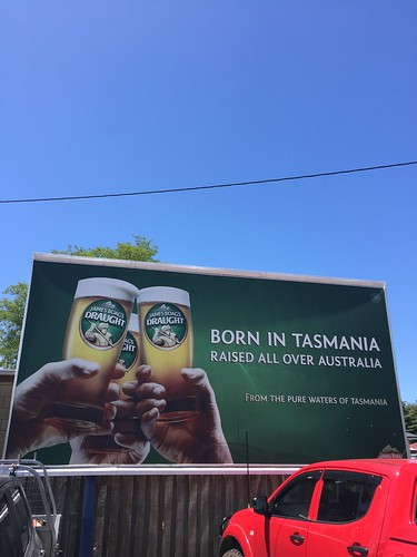SIGN, Born in Tasmania-Raised all over Australia, Boags Draught at Westbury, Tasmania