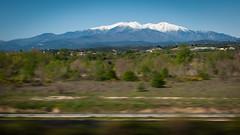 Massif du Canigou depuis le TGV
