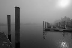 Heavy fog over Lewes Canal (stevebfotos) Tags: water lewes fog