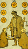 Six of Pentacles (~ Lone Wadi ~) Tags: tarot tarotcards fortunetelling blackmagic occult sorcery retro 1910s
