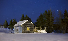 In the woods (Danny VB) Tags: cabin house christmas noel night stars sky star snow winter trees canon 6d gaspesie quebec canada