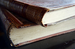 Tomes (pgpphotographer) Tags: books macro binding pages indoors detail