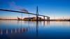 Köhlbrandbrücke (die_Nicky79) Tags: canon köhlbrandbrücke hamburg architektur hafen bauwerke brücken deutschland elbe dämmerung langzeitbelichtung explore