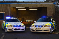NK61 CHJ & NK61 CJU (S11 AUN) Tags: durham constabulary bmw 330d 3series touring anpr police traffic car rpu roads policing unit 999 emergency vehicle nk61cju nk61chj
