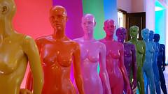 mannequins (radimersky) Tags: mannequins manekiny kolorowe colourfoul samsung a52016 dummys smartphone rząd row line warszawa warsaw polska poland rainbowcoloured galaxy sma510f indoor