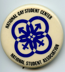 National Gay Student Center pin: 1972 ca. (washington_area_spark) Tags: national student association nsa us usnsa gay center 1971 lesbian bisexual transgender washington dc warren blumenthal history