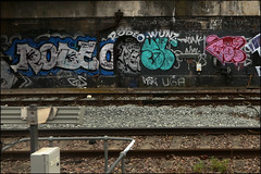 Rodeo / Sludge / B6K (Alex Ellison) Tags: urban graffiti boobs tag railway ab chrome rodeo kc graff gs sludge irp throwup trackside neka jpt northwestlondon throwie plonk 1t nekah neks sluge wuns wunz b6k